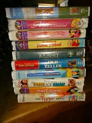 DISNEY MOVIES LOT OF 10 BRAND NEW SEALED VHS TAPES WONDERFUL MOVIES FOR ALL $29.99