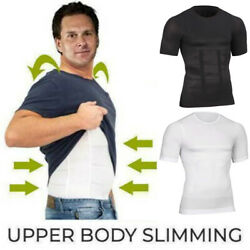 Shaper Men Body Toning T-shirt Ultra Durable Body Compression Shapewear Top Gym $5.79