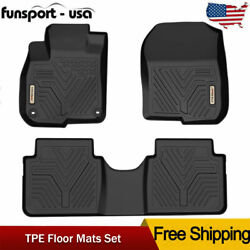 For 2017 2018 2019 2020 Honda CR-V Floor Mats Liner Black TPE Rubber All Weather $81.99