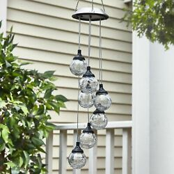 Hanging Globe Solar Lights Outdoor Pendant Lamp for Patios Porches and Yards $26.98