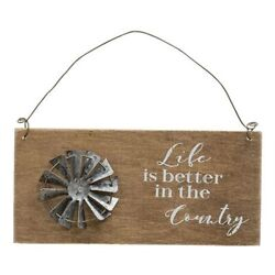 Life Is Better In The Country Windmill Sign Rustic Country Decor $9.95