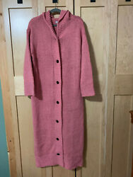 Womens Hooded Maxi Length Knit Sweater Size 2X 3 9 $49.00