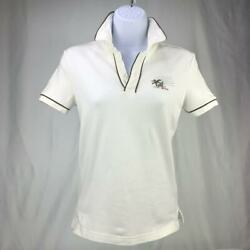 Ladies Polo Pique Cotton Top Miami Beach S Oliver Womens Button Collar Soft 36S $14.95