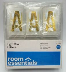 Room Essentials Color Changing LED Light Box Holiday Gold Letter Pack of 100 new $6.29
