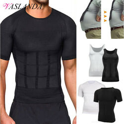 Shaper Men Body Toning T-Shirt Ultra Durable Vest Compression Shapewear Tops Gym $8.79