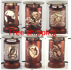 Electric Metal Fragrance Lamp Touch control Oil Warmer Wax Burner $18.98
