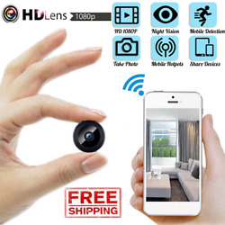 Mini Hidden Spy Camera Wireless HD Wifi 1080P Indoor Home Small Security Cam DVR $21.99