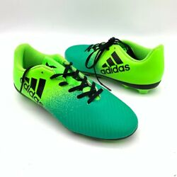 Adidas Boys Soccer Cleats Shoes Green Ombre Lace Up Athletic Active Sports 3.5 $17.97
