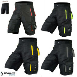 MTB Shorts Men#x27;s Cycling Off Road Team Racing Baggy Bicycle Padded Liner Shorts $32.49