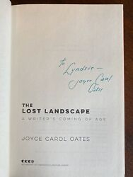 Joyce Carol Oates SIGNED  INSCRIBED FIRST EDITION The Lost Landscape FF 11 HC