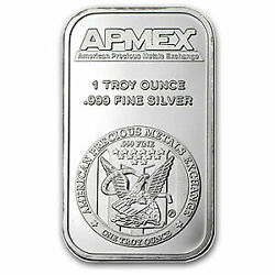 One Ounce .999 Fine Silver ApMex Bar 1 oz $48.80