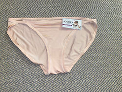 New Jockey XL Panty Underwear String Bikini Blush Beige Satiny Smooth Womens B2  $7.00