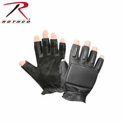 Rothco 3454 Tactical Fingerless Rappelling Gloves Black Small $19.95