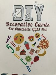 300 Piece Light Box Letters And Emojis A4 Light Box DIY Decorative 2.5 Inch NEW $13.99