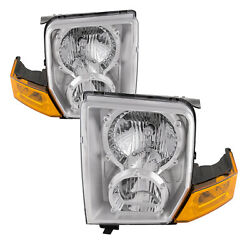 Headlights Set Right Left Pair Halogen Fits 2006-2009 Jeep Commander $107.76