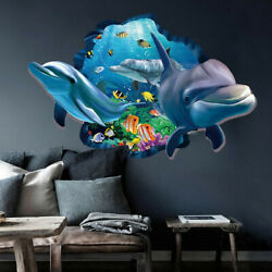 3D Ocean World Dolphin Wall Stickers Removable Vinyl Art Kids Room Decor US $6.62