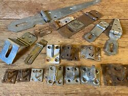 17 Piece Lot Trunk Door Hasp Hardware ~ Garden She Shed Wood Chest