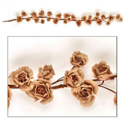 New Rustic Country Cottage Shabby Chic TAN BURLAP ROSE GARLAND Vine Swag $15.99