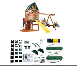 Backyard Play Set DIY Custom Kids Swing Slide Playhouse Outdoor Fun Hardware $175.84