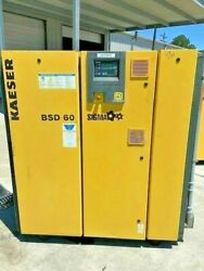 Kaeser BSD 60 Sigma Direct Drive 60hp Rotary Screw Air Compressor Ser 1147 $6,750.00