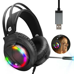 Gaming Headset Headphone PC Earphone Stereo Bass Player Wired with Microphone US $21.97