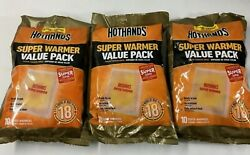 3 Hothands Super Warmers Value 10 Pack = 30 Total 18 Hr Heat EXP 82023    $24.00