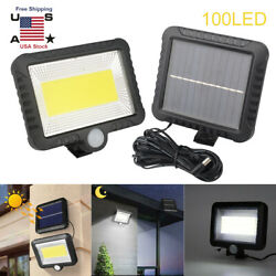 100 LED Solar Power PIR Motion Outdoor Garden Light Security Flood Wall Lamp New $23.42