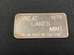 1973 Commercial Bar Great Lakes Mint 1oz .999 Fine Silver Bar $30.00