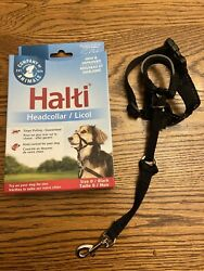Halti DOG Headcollar Black Size 0 Yorkie mini dachshund adjustable New Open $7.50