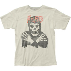 Misfits Classic Skull T Shirt Mens Licensed Rock N Roll Retro Tee Vintage White $18.99