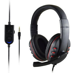 3.5mm Gaming Headset Stereo Surround Headphone With Mic For PS4smartphonePC US $11.99