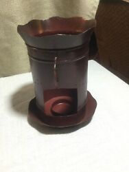 Primitive Punched Tin Lantern Candle Lamp Country Rustic Lighting $12.50