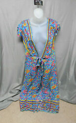 NWOT multicolor floral long cover up womens medium $14.24