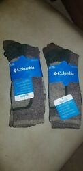 COLUMBIA YOUTH SIZE 2 10 SOCKS 2 PACKS OF 2 PAIRS $14.00