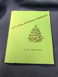 Let#x27;s Keep Christmas Commercial First Baptist Church Of Lakewood Booklet 1985