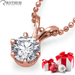 Real 14K Rose Gold Chain with Diamond Pendant Necklace 2.08 ct D SI1 27950892