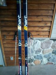 Vintage Hart 190cm Skis With S222 SALOMON BINDINGS JONES Adjustable Poles Nice $100.00