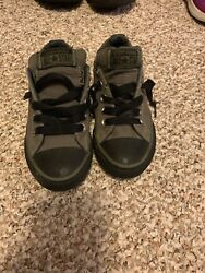 Converse All Star Boys No Tie Youth 12 Black amp; Green $20.00