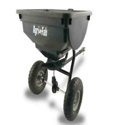 85 Lb Behind Broadcast Spreader Tow Hopper Fertilizer Seed Atv Lawn Tractor Pull $116.92