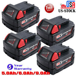 4X For Milwaukee M18 Lithium Ion XC 6.0 Extended Capacity Battery 48-11-1852 18V $22.99