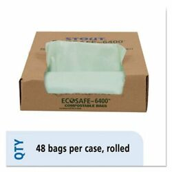 30 Gallon Compostable Green Compost Bags 30x39 1.1mil 48 Bags STOE3039E11 $40.53