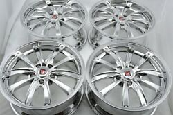4 New DDR XF1 17x7.5 5x114.3 40mm Chrome 17