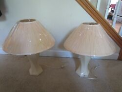 "VINTAGE 1980'S LAMP 2O"" LAMP SHADE23"" TALL LAMPCONTEMPORARY LAMPBEIGE LAMP $49.99"