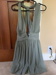 Sabo Skirt low V mini dress $40.00