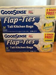 2 x 14 bags 13 Gallons Tall Kitchen Bags Lemon Scented $4.25