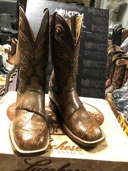 Lucchese BOOTS SIZE 9EE EXOTIC Giant GATOR FREE SHIPPING $650.00