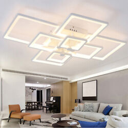 Ceiling Light Fixture Lamp LED Ceiling Lights Acrylic Square Chandelier Lighting $113.00