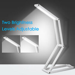 Foldable LEDs Desk Lamp with USB Rechargeable Port Portable Table Light Z1D9 $13.98