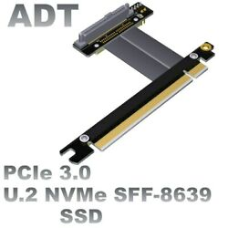 PCI E 3.0 x16 To U.2 SFF 8639 NVMe SSD pcie extension cable Flexible Flat Cable $35.65