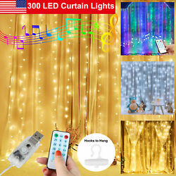 300LED Party Wedding Curtain Fairy Lights USB String Light Music Remote Control $14.97